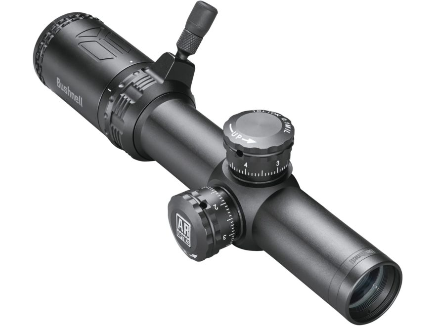 Bushnell AR Optics Rifle Scope 30mm Tube 1-4x 24mm 1/10 Mil Adjustments Drop Zone-223 B...