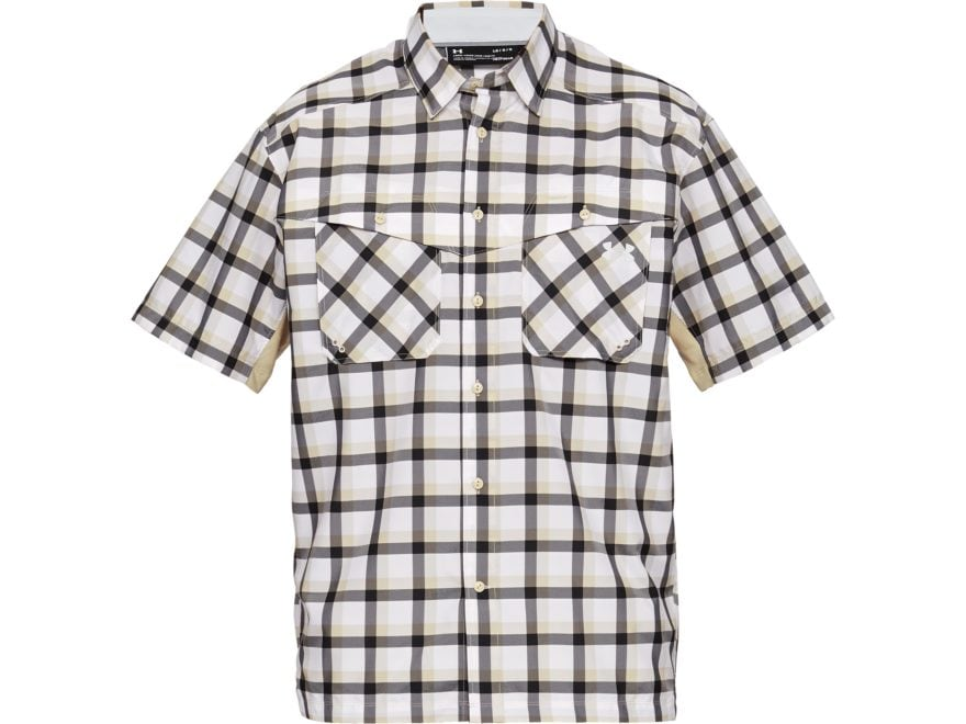 Under Armour Men's UA Tide Chaser Plaid Button-Up Shirt Short Sleeve Polyester