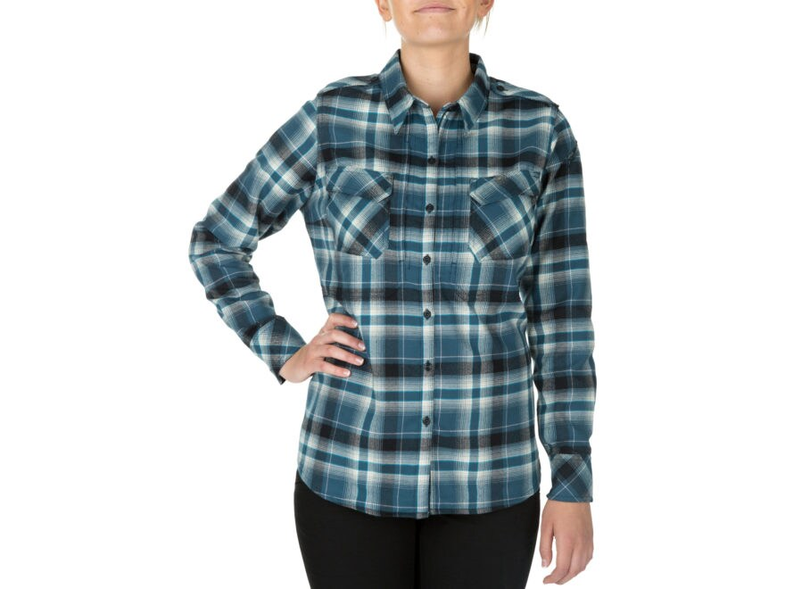 5.11 Women's Heartbreaker Flannel Button-Up Shirt Long Sleeve Polyester
