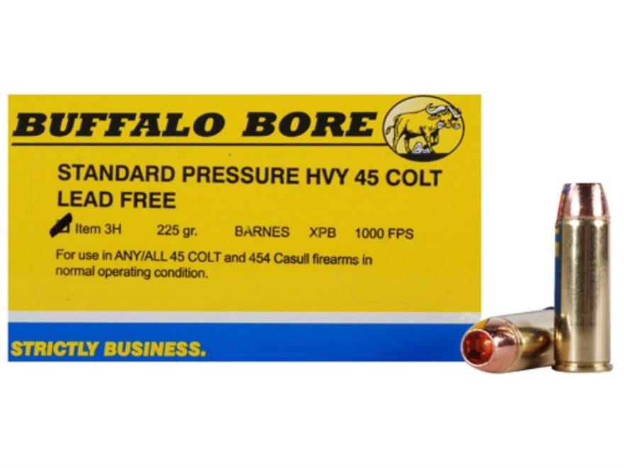 Buffalo Bore Ammunition 45 Colt (Long Colt) 225 Grain Barnes XPB Hollow Point Lead-Free...