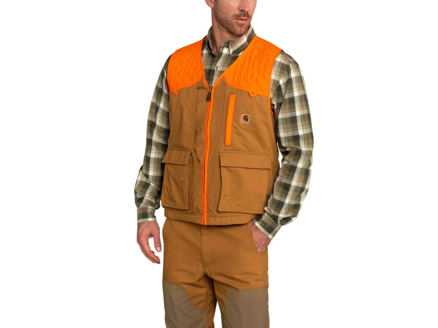 a50bf68e8da28 Carhartt Men's Lightweight Upland Game Bird Vest Cotton/Polyester