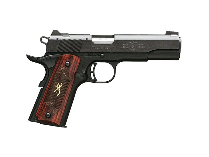 "Browning 1911-22 Medallion Pistol 22 Long Rifle 4.25"" Barrel 10-Round Black with Rosewo..."