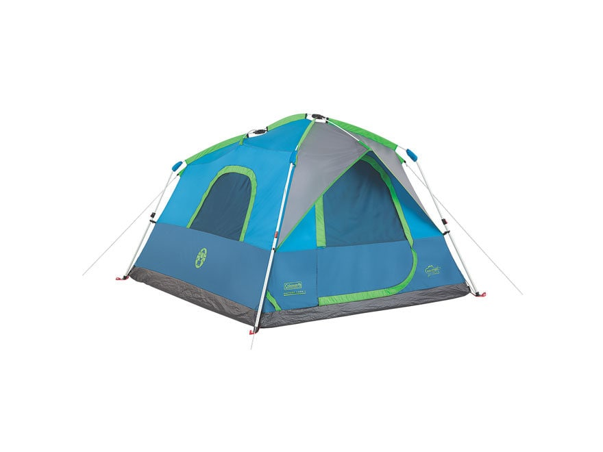 "Coleman Signal Mountain 4 Man Instant Tent 58"" x 96"" x 84"" Polyester Blue and Green"
