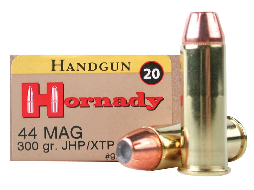 Hornady Custom Ammunition 44 Remington Magnum 300 Grain XTP Jacketed Hollow Point Box o...