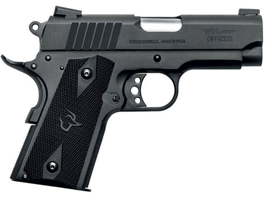 "Taurus 1911 Officer Pistol 45 ACP 3.51"" Barrel 6-Round Matte and Black Polymer"