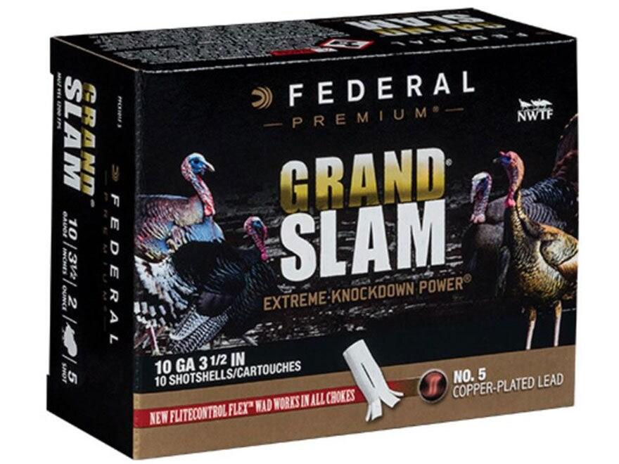 "Federal Premium Grand Slam Turkey Ammunition 10 Gauge 3-1/2"" 2 oz Buffered Copper Plate..."