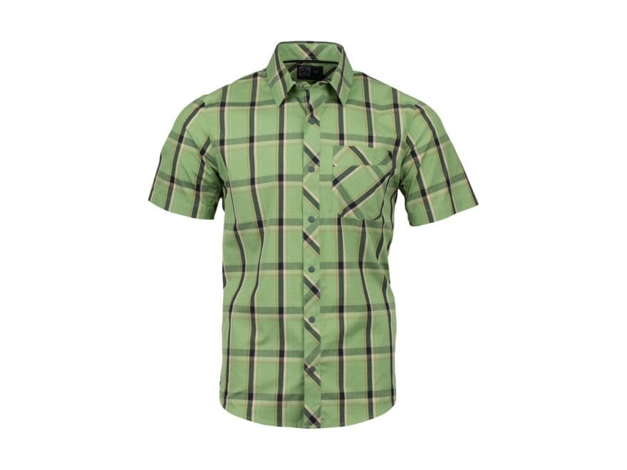 Magpul Men's R&R Plaid Button-Up Shirt Short Sleeve Polyester