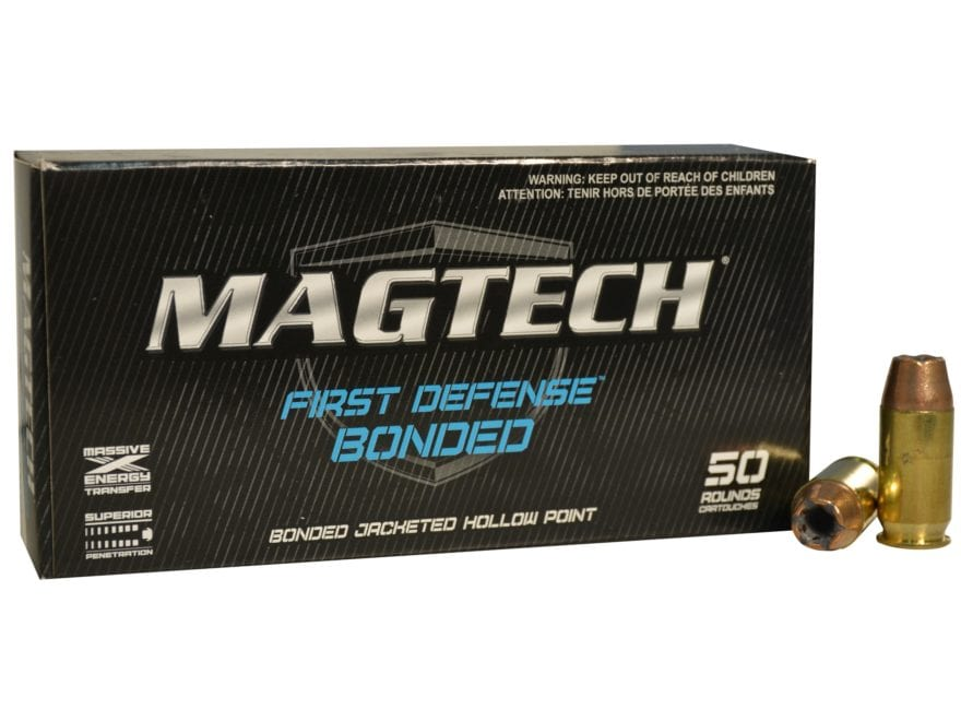 Magtech First Defense Bonded Ammunition 40 S&W 180 Grain Bonded Jacketed Hollow Point