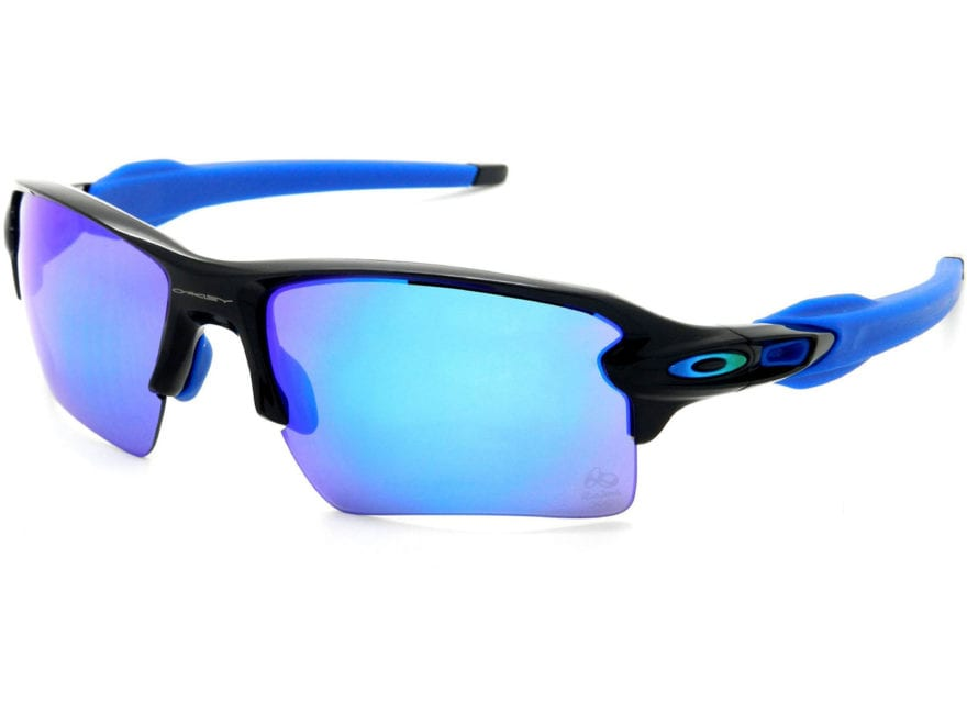792b438e00d Oakley Flak 2.0 XL Sunglasses Rio Olympic Edition Polished Black  Frame Sapphire Iridium.