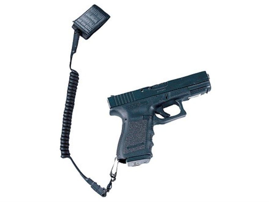BLACKHAWK! Tactical Pistol Lanyard Coiled Single Swivel Black