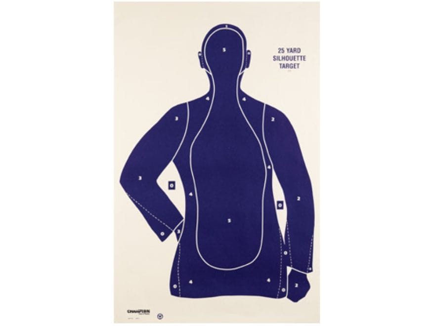 """Champion LE Police Silhouette Targets B21E 22.5"""" x 35"""" Paper Pack of 100"""