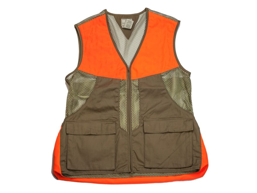 bbdc2bedd8e6d Beretta Men's Upland Mesh Vest Brushed Cotton and Polyester Tan and Blaze  Orange