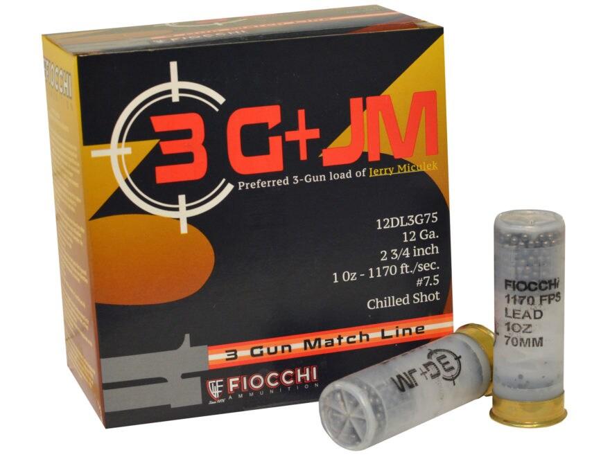"Fiocchi 3-Gun Ammunition 12 Gauge 2-3/4"" #7-1/2 Shot"
