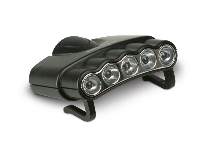 Cyclops Orion5 Cap Clip Light LED with 2 CR2032 Batteries Polymer Black
