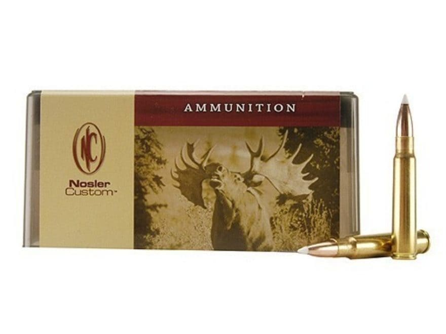 Nosler Custom Ammunition 8x57mm JS Mauser (8mm Mauser) 200 Grain AccuBond Spitzer Box o...