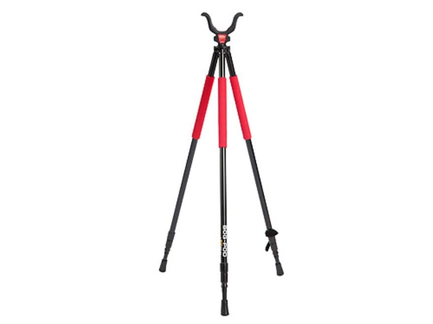 """Bog-Pod RLD-3 (Red Legged Devil) Tall Tripod Shooting Sticks 22"""" to 68"""" Swivel Head All..."""