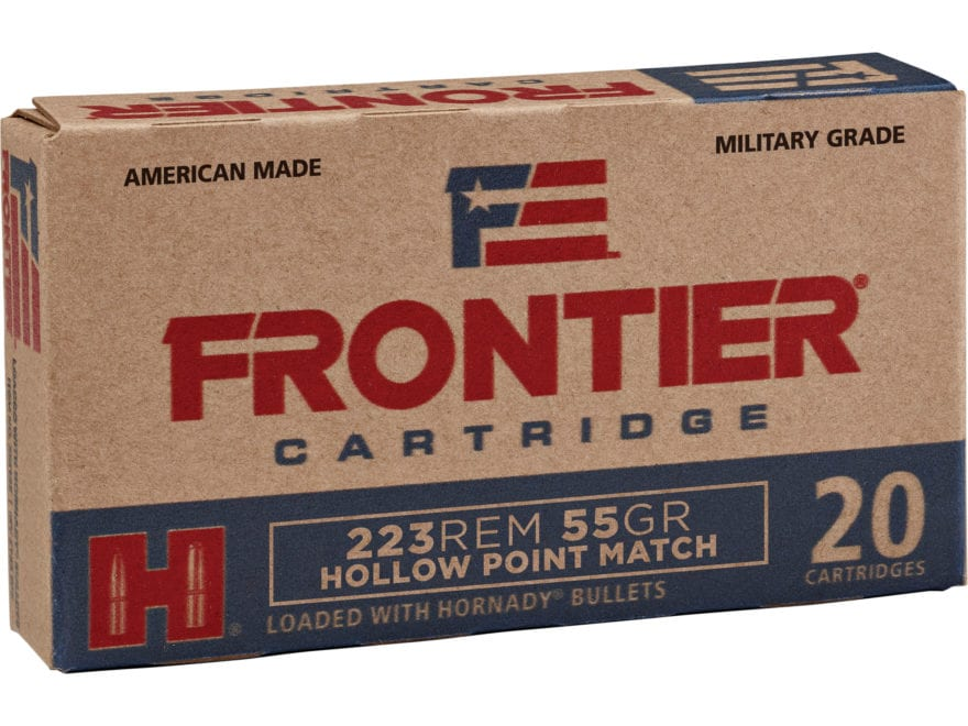 Frontier Cartridge Military Grade Ammunition 223 Remington 55 Grain Hornady Hollow Poin...