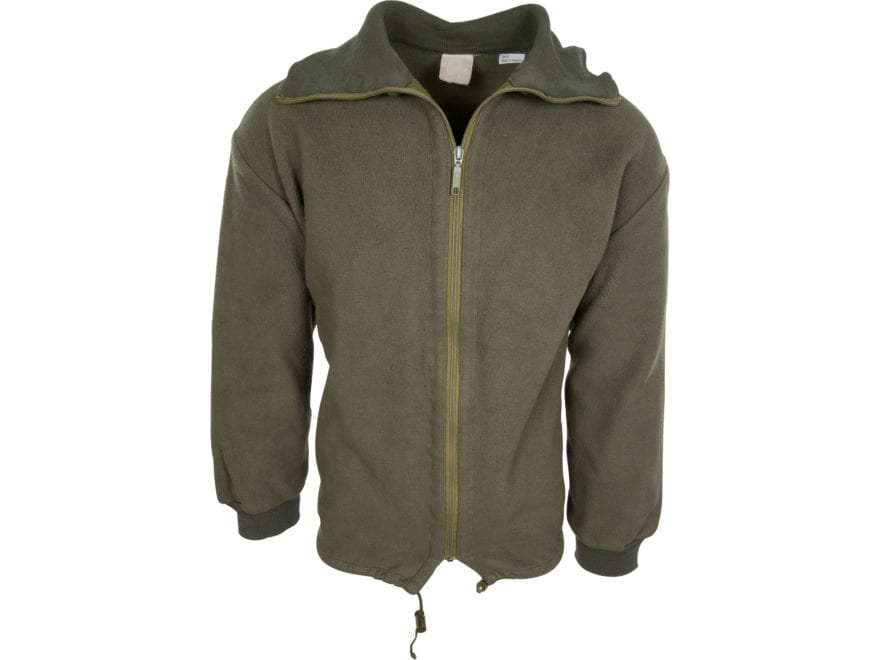 Military Surplus Belgian Fleece Jacket Olive Drab