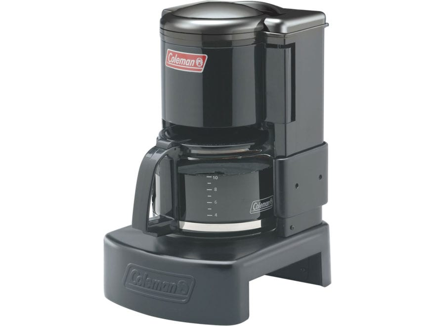 Coleman 10-Cup Camping Coffeemaker Steel Base with Glass Pot Black