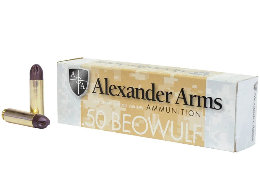 Alexander Arms Ammunition 50 Beowulf 200 Grain Frangible Inceptor ARX Box of 20