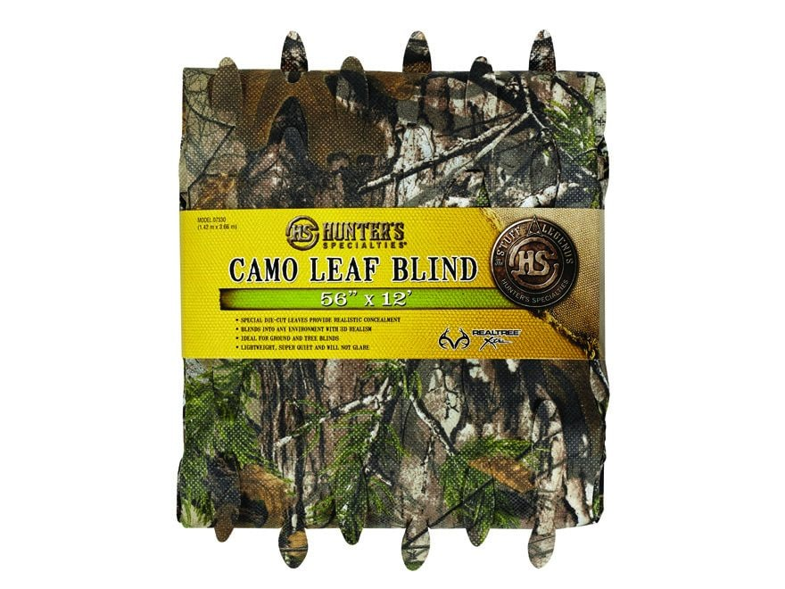 "Hunter's Specialties Blind Material 12' x 56"" Leaf Nylon"