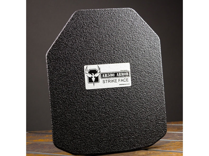 AR500 Body Armor Stand Alone Ballistic Plate III+ Shooter's Cut Steel