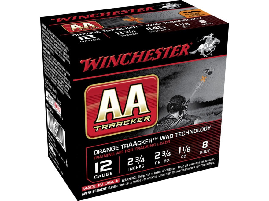 "Winchester AA Light TrAAcker Ammunition 12 Gauge 2-3/4"" 1-1/8 oz"