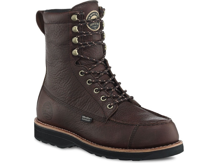 """Irish Setter 808 Wingshooter 9"""" Waterproof Hunting Boots Leather Brown Men's"""