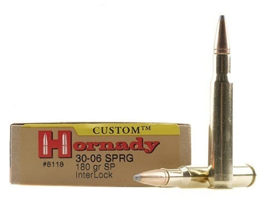 Hornady Custom Ammunition 30-06 Springfield 180 Grain InterLock Spire Point Box of 20