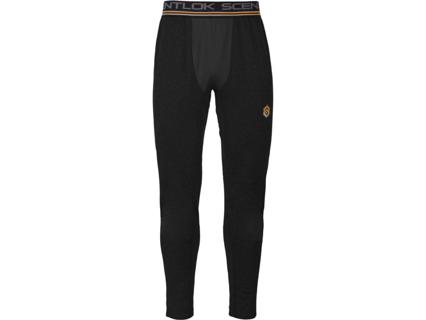 Scent-Lok Men's Nexus Arctic Weight Base Layer Pants Polyester Black Heather XL