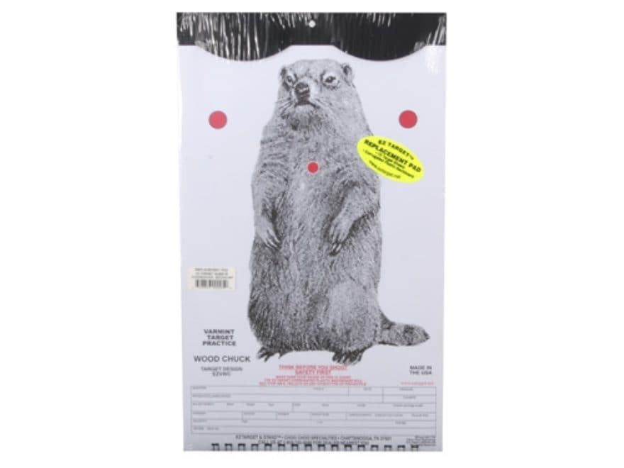 """EZ Target Woodchuck Replacement Target 11"""" x 17"""" Paper Pack of 15"""