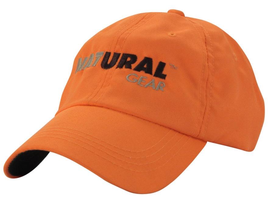 Natural Gear 6 Panel Logo Cap Cotton Blaze Orange
