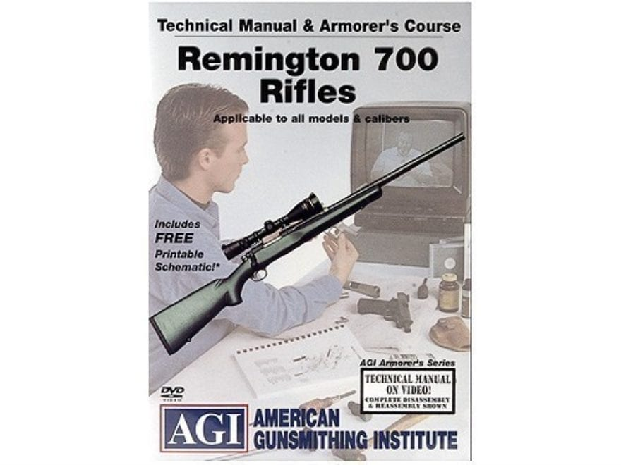 "American Gunsmithing Institute (AGI) Technical Manual & Armorer's Course Video ""Remingt..."