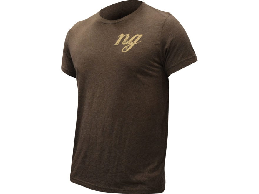 Natural Gear Men's Deer Logo T-Shirt Short Sleeve Tri-Blend Brown