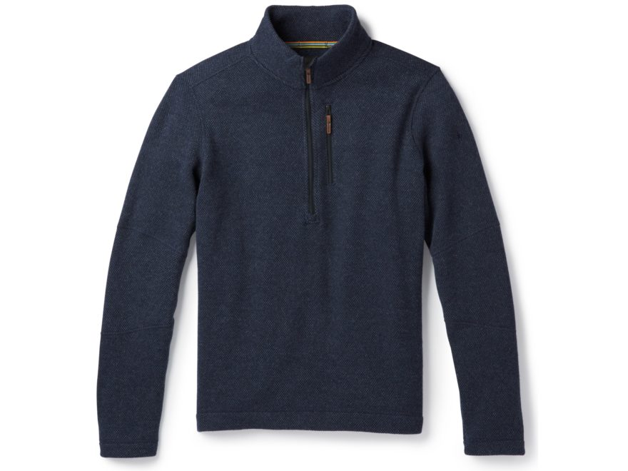 Smartwool Men's Hudson Trail Fleece Half Zip Sweater Polyester/Wool