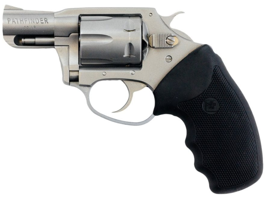 """Charter Arms Pathfinder Revolver 2"""" Barrel 6-Round Stainless and Black Rubber"""