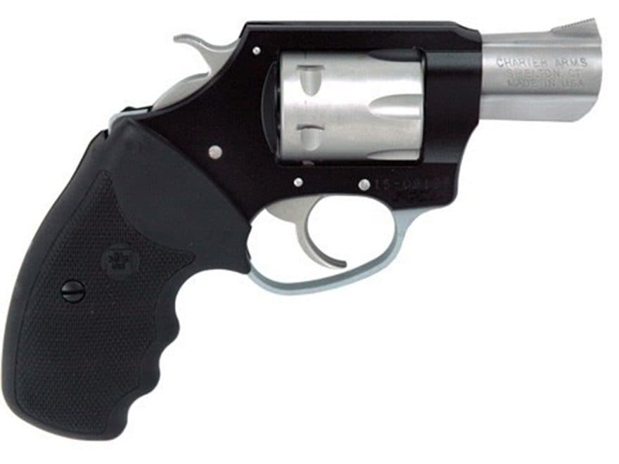 "Charter Arms Pathfinder Lite Revolver 22 Magnum 2"" Barrel 6-Round Black/Stainless and B..."