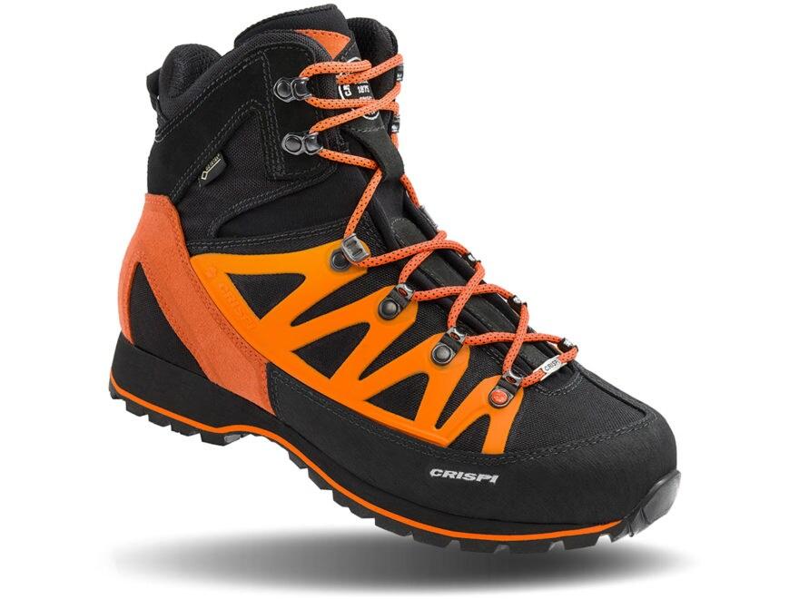 "Crispi Thor GTX 8"" Waterproof GORE-TEX Hiking Boots Leather Black/Orange Men's 8 D"