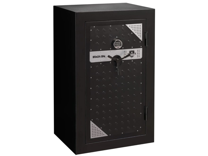 Stack-On Tactical Security Fire Resistant 20 Gun Safe with Electronic Lock Black/ Silver