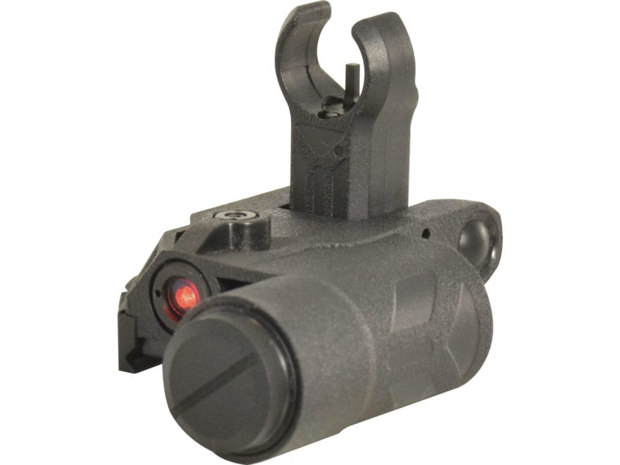 Bushnell AR Optics Chase Flip-Up Front Sight AR-15 with Integrated Red Laser Sight Black