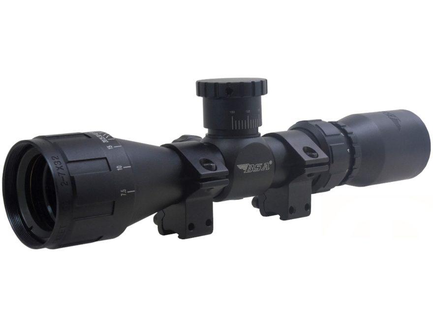BSA Sweet .22 AO Compact Rimfire Rifle Scope 2-7x 32mm Adjustable Objective Duplex Reti...