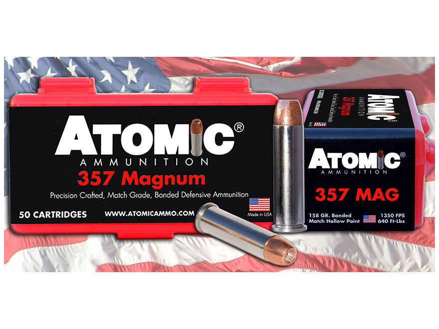 Atomic Ammunition 357 Magnum 158 Grain Bonded Match Hollow Point Box of 50