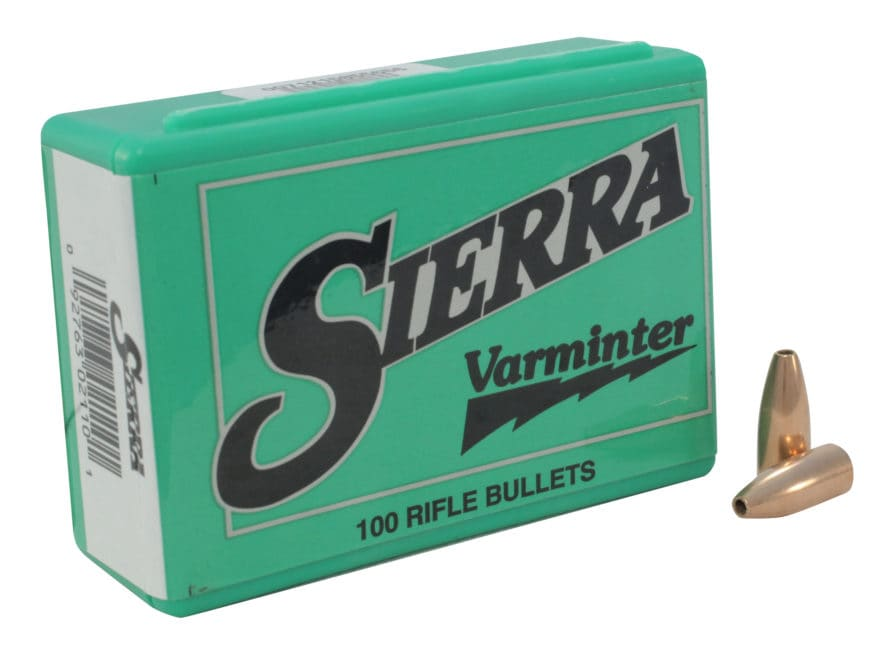 Sierra Varminter Bullets 30 Caliber (308 Diameter) 110 Grain Hollow Point Box of 100