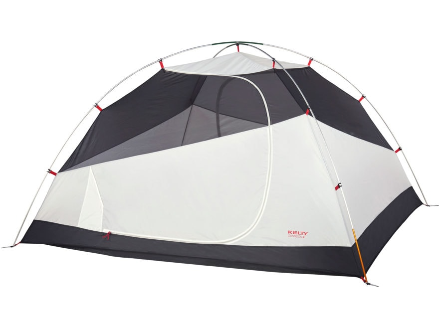 """Kelty Gunnison 4 Person Dome Tent with Footprint 99"""" x 88"""" x 55"""" Polyester Gray"""
