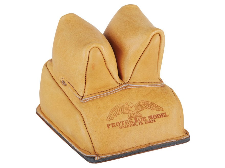 Protr Rabbit Ear Rear Shooting Rest Bag With Heavy Bottom Leather Tan Filled