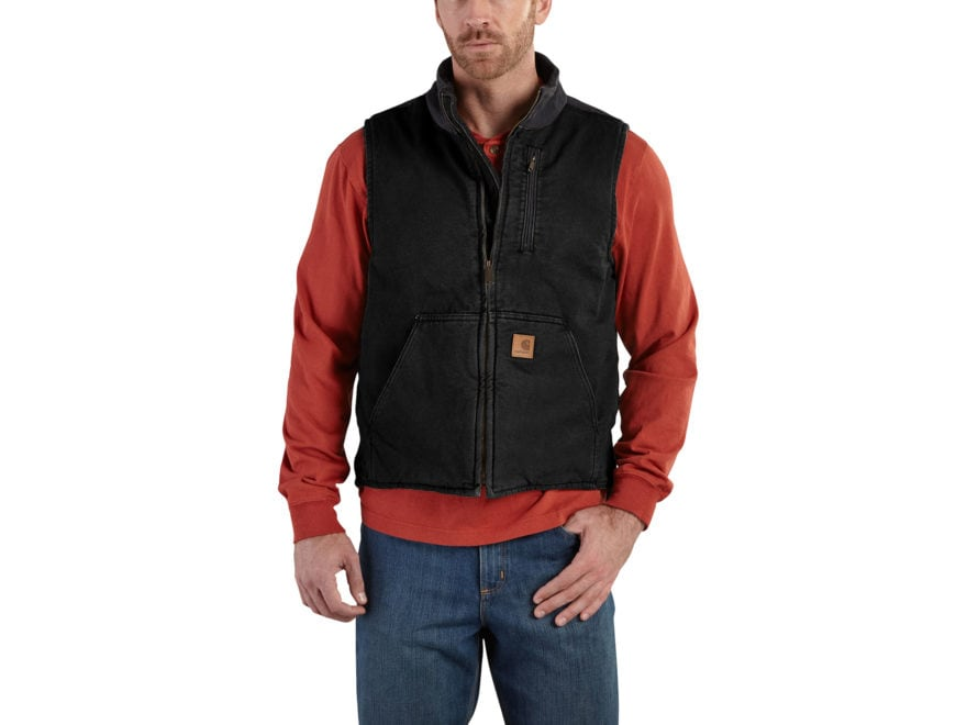 Carhartt Men's Mock Neck Lightweight Vest Cotton