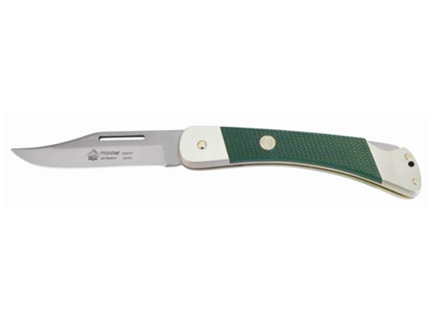 "Puma Classic Military Series Master Folding Knife 3.7"" Clip Point German 440A Stainless..."