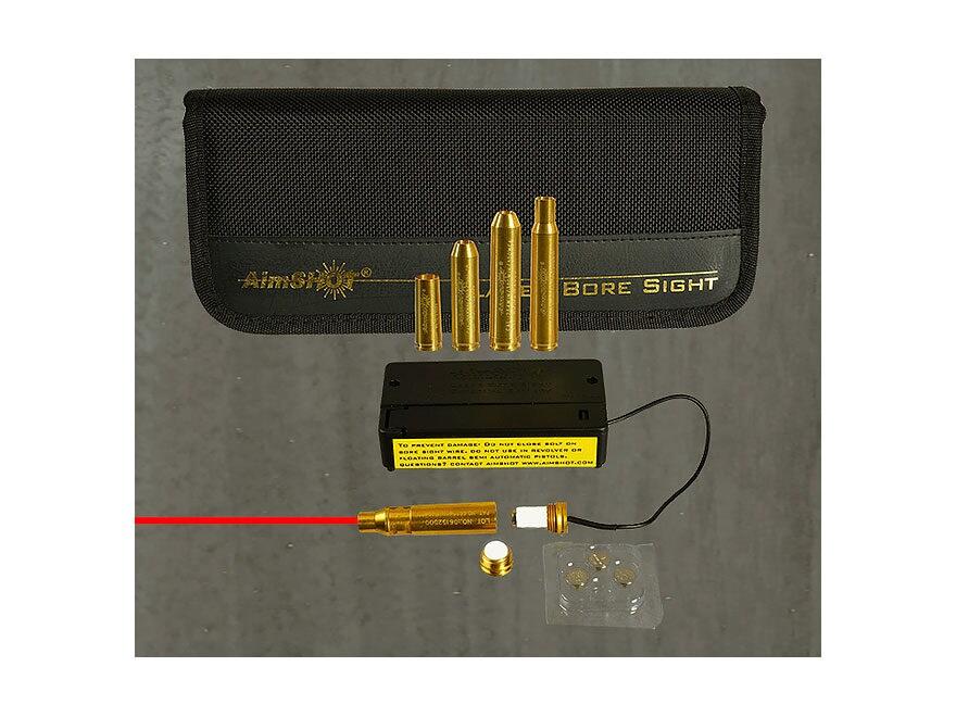 Aimshot Rifle Kit Red Laser Modular Bore Sight 223 with AR243, AR264, AR3006, and AR762...