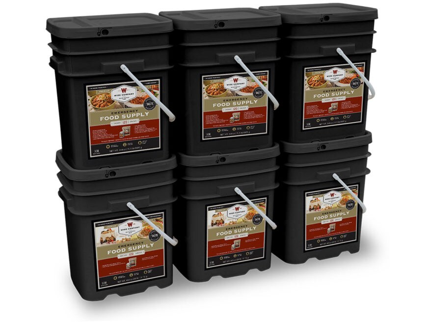 Wise Company 720 Serving Vegetarian Entree and Breakfast Freeze Dried Food Kit