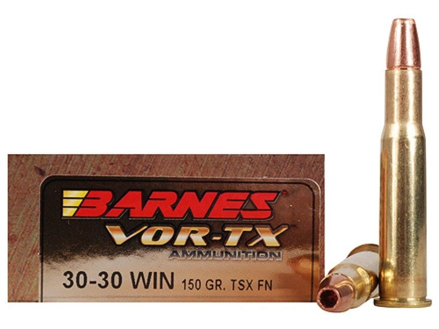 Barnes VOR-TX Ammunition 30-30 Winchester 150 Grain TSX Hollow Point Lead-Free Box of 20
